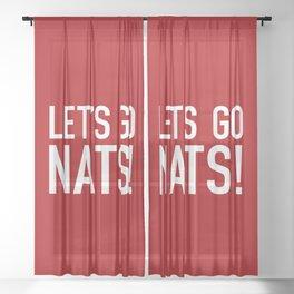 Let's Go Nats! Sheer Curtain