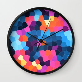 Geometric Brights Wall Clock