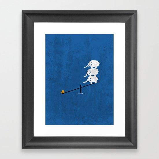 No balance Framed Art Print