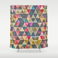 grunge Shower Curtains featuring Grunge HG by thinschi