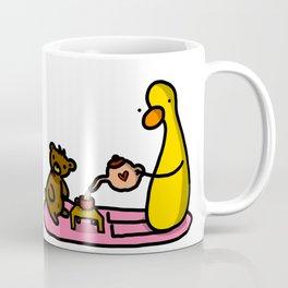 Teddy + Duck Tea Party | Veronica Nagorny Coffee Mug