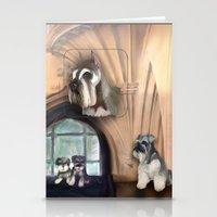 schnauzer Stationery Cards featuring Schnauzer by Michelle Behar