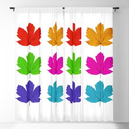 Colorful maple leaves Blackout Curtain