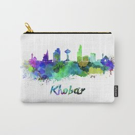 Khobar skyline in watercolor Carry-All Pouch