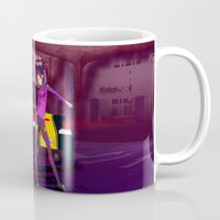 grand theft auto Mugs featuring Grand Theft Autobot 2 by 88bullets