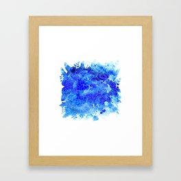 Blue Floral Pattern 02 Framed Art Print