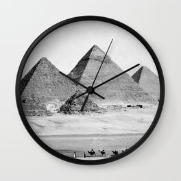 Pyramids of Gizeh Wall Clock