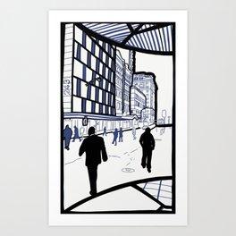 Edward Street - Brisbane, Australia Art Print