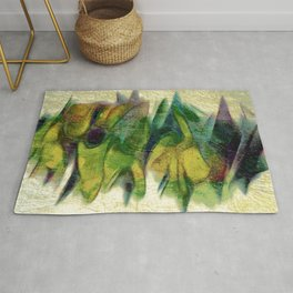Abstract fall colors Rug