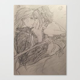 Vampire Knight Sketch Print Canvas Print