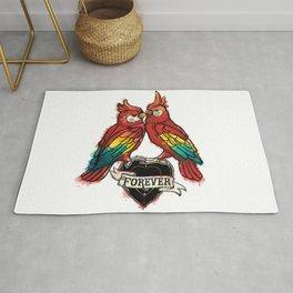 Lover Parrots Rug