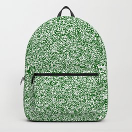 Spacey Melange - White and Dark Green Backpack