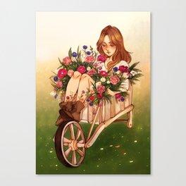 Wheelbarrow Garden Canvas Print