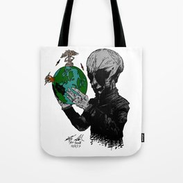 Aril Observers Our Planet Tote Bag