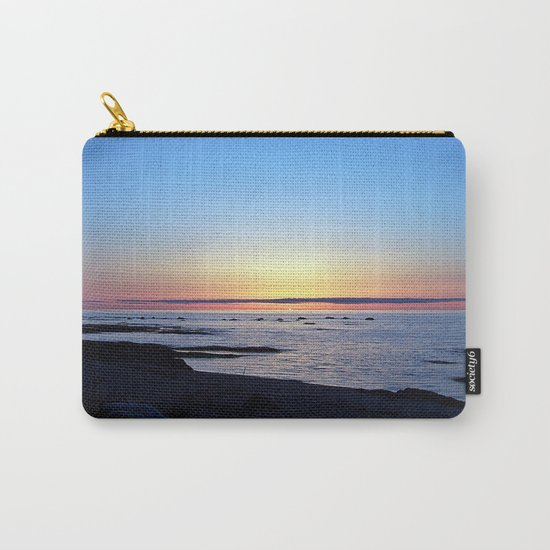 Sun Sets up the River, Across the Sea Carry-All Pouch