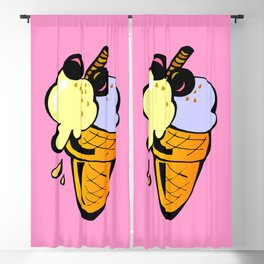 Hunger on ice cream Blackout Curtain