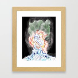 Fire and Desire Framed Art Print