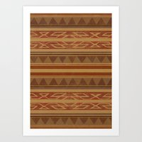 navajo Art Prints featuring Navajo  by Terry Fan