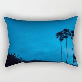 Sunrise 3 Blue Rectangular Pillow