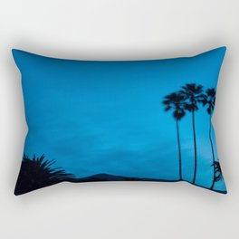 Sunrise 3 Blue Rectangular Pillow