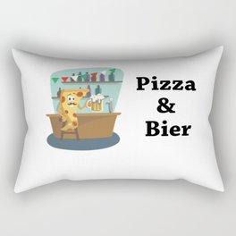 Pizza And Beer Rectangular Pillow