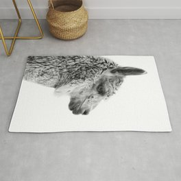 Llama Drama | Alpaca Animal Photography Rug