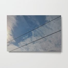 clouds and wire, abstract, no.03 Metal Print