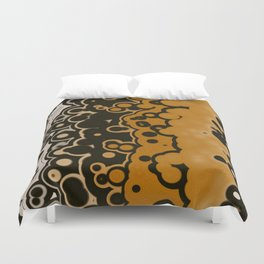 Black Gold and White bubbles Duvet Cover