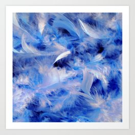 Blue Plumes Art Print