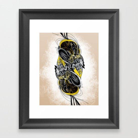 Bird sleeping Framed Art Print