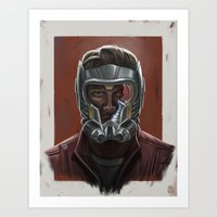 starlord Art Prints featuring STARLORD PORTRAIT by Don Seaworth