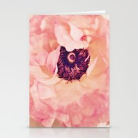 peony Stationery Cards featuring Peony by Ameliamiller