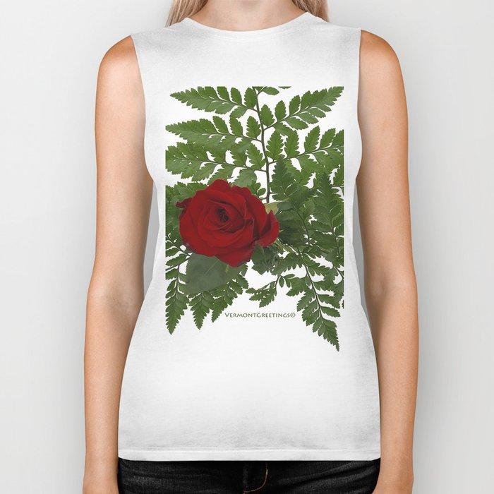 Rose in Winter Biker Tank