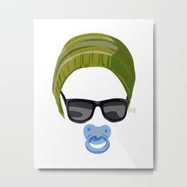 Hipster Boy Baby Metal Print