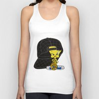 moschino Tank Tops featuring Moschino Tweety by Claudio Velázquez