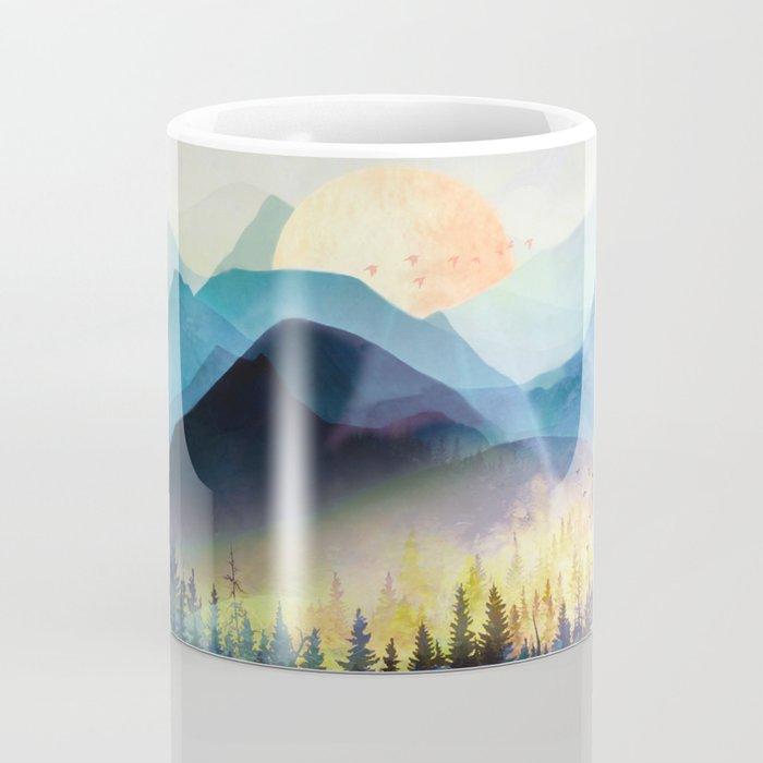 Mountain Lake Under Sunrise Kaffeebecher