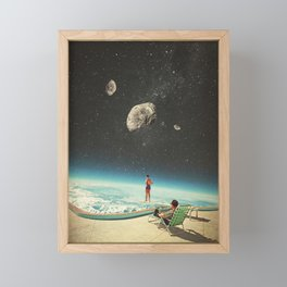 Summer with a Chance of Asteroids Framed Mini Art Print