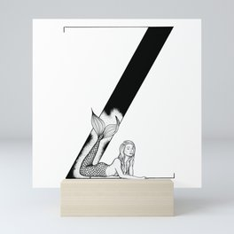 Mermaid Alphabet Series - Z Mini Art Print