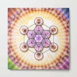 Metatron's Cube - Sun II.I Metal Print
