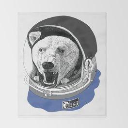 Astronaut bear Throw Blanket