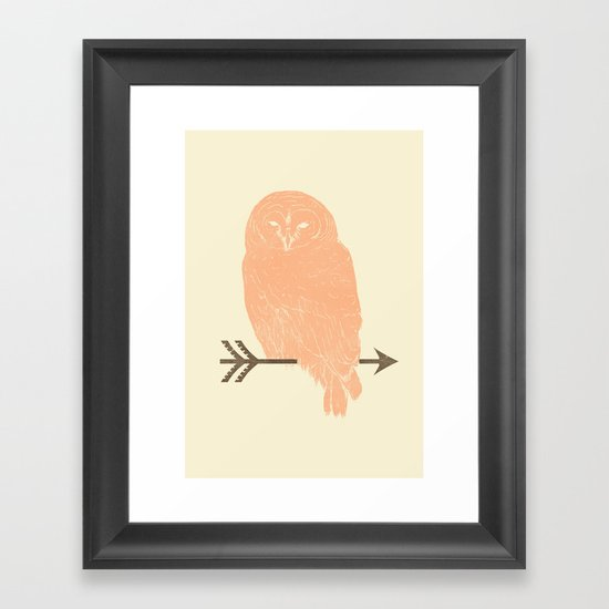 Owl and Arrow Framed Art Print