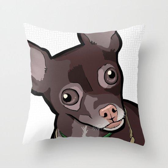 Taco T. Man (Chihuahua) Throw Pillow