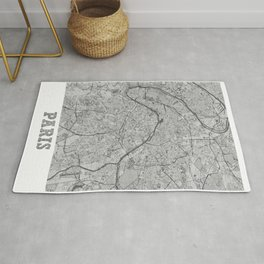 Paris Pencil City Map Rug