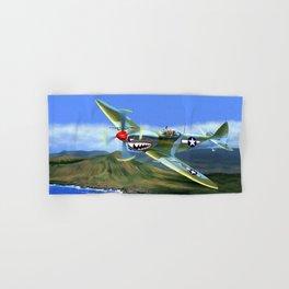 Spitfire Soars Over Hawaii Hand & Bath Towel