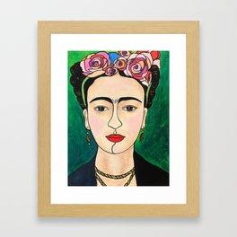 Frida Khalo Portrait Framed Art Print