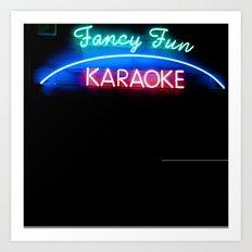 fancy fun karaoke Art Print