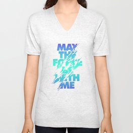 Jedi Mantra - May the Force be with you Unisex V-Neck