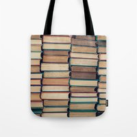 bookworm Tote Bags featuring Bookworm by Laura Ruth