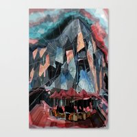 melbourne Canvas Prints featuring Melbourne by sladja