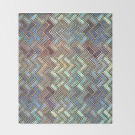 Colorful Royal Gold Geometric Pattern III Throw Blanket